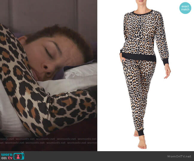 Leopard Print Pajamas by Kate Spade worn by Robyn Dixon  on The Real Housewives of Potomac