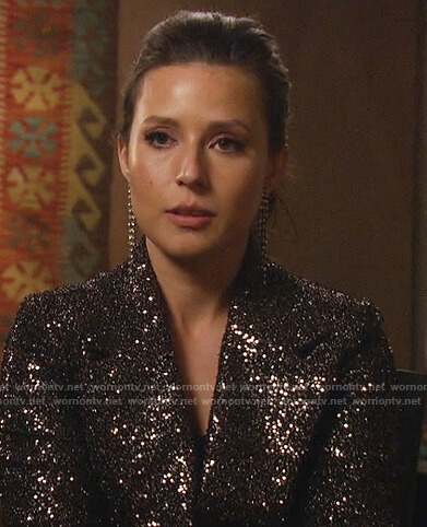 Katie's black sequin blazer dress on The Bachelorette