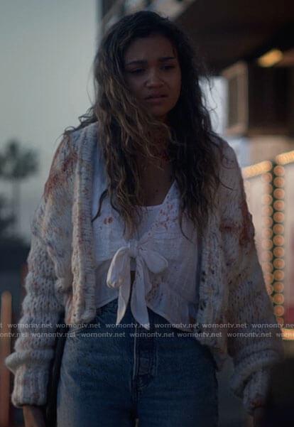 Dee's argyle cardigan on American Horror Stories