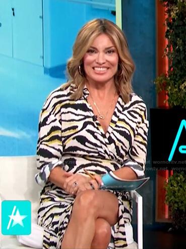 Kit's zebra striped dress on Access Hollywood