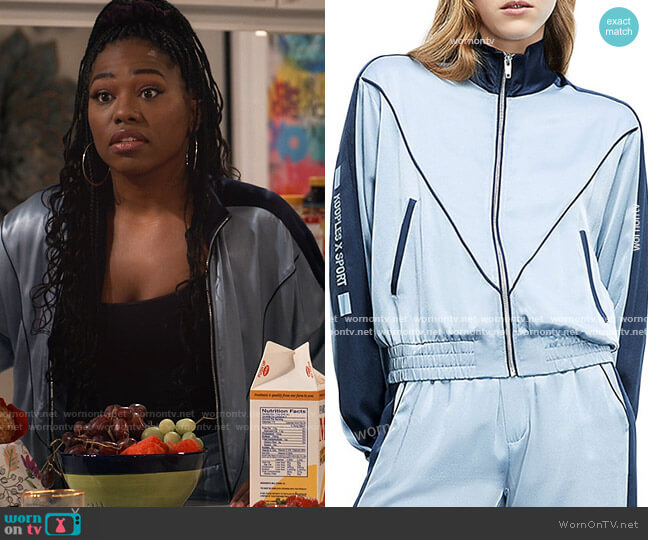 The Kooples x Sport Jacket worn by Harper (Laci Mosley) on iCarly