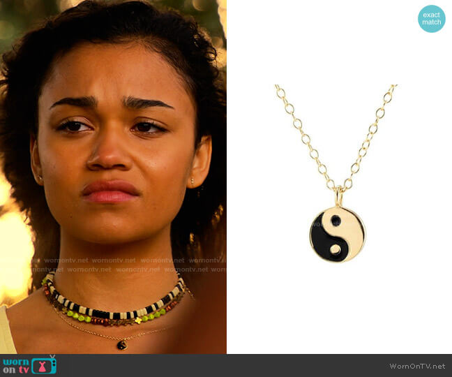 Kris Nations Yin and Yang Pendant Necklace worn by Kiara Carrera (Madison Bailey) on Outer Banks