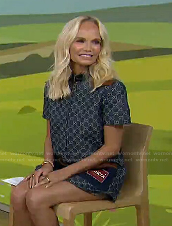 Kristin Chenoweth's print denim mini dress on Today