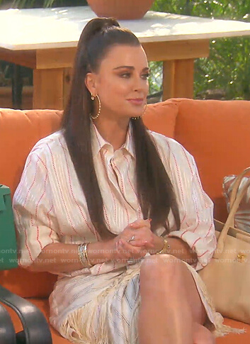 Kyle's striped shirt and skirt on The Real Housewives of Beverly Hills