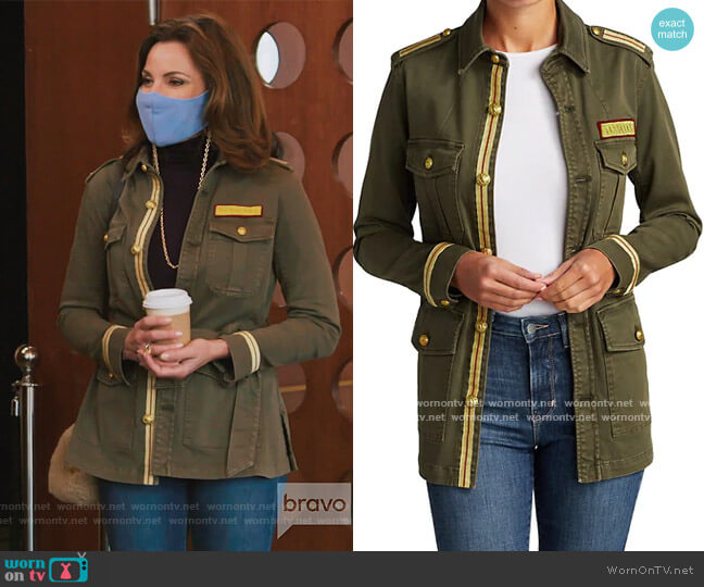Ramona Utility Jacket by L'Agence worn by Luann de Lesseps  on The Real Housewives of New York City