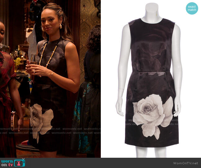 Lanvin Sleeveless Rose Dress worn by Whitney Green (Amber Stevens West) on Run the World