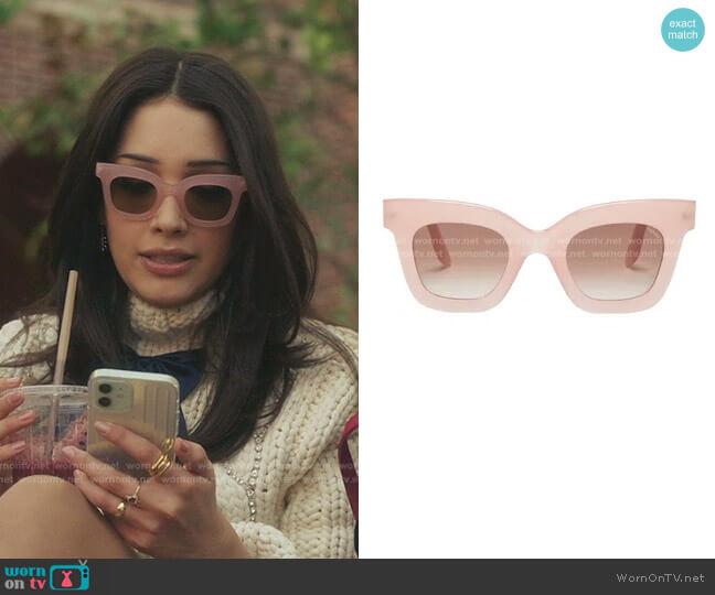Catarina Oversized Square Acetate Sunglasses by Lapima worn by Luna La (Zión Moreno) on Gossip Girl
