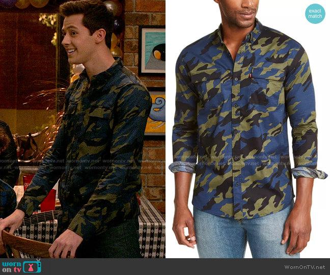 Levis Newski Camouflage Shirt worn by EJ (Matt Cornett) on High School Musical The Musical The Series