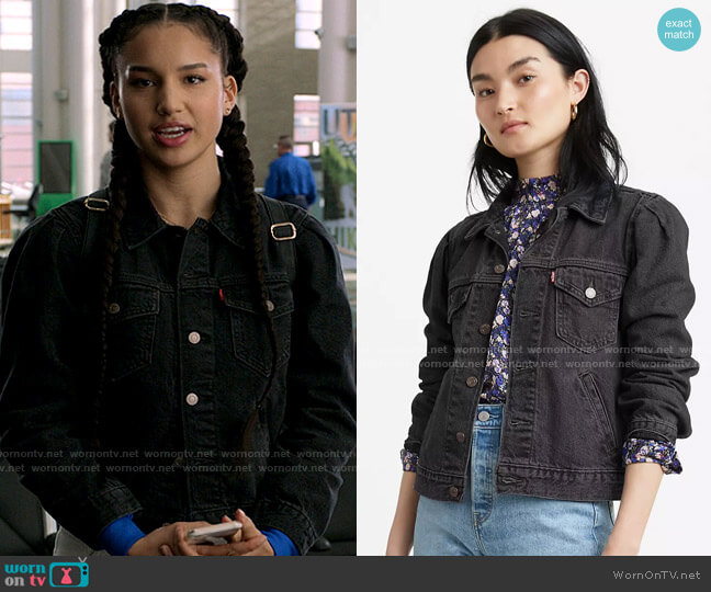 Levis Original Utility Trucker Jacket  worn by Gina (Sofia Wylie) on High School Musical The Musical The Series