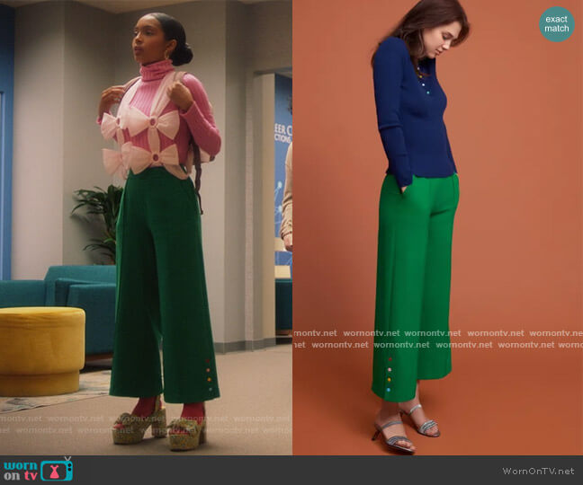 2018 Fall Collection by Lisa Perry worn by Zoey Johnson (Yara Shahidi) on Grown-ish