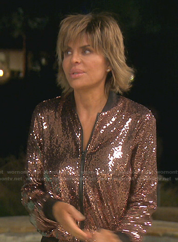 Lisa's sequin track jacket and pants on The Real Housewives of Beverly Hills