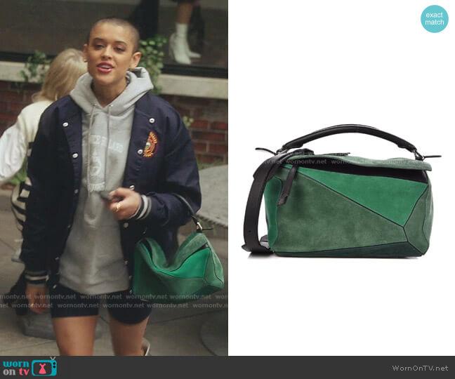Suede Medium Bag by Loewe worn by Julien Calloway (Jordan Alexander) on Gossip Girl