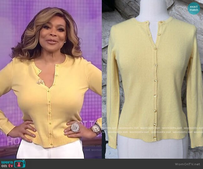 Cashmere Sweater by Lord and Taylor worn by Wendy Williams  on The Wendy Williams Show