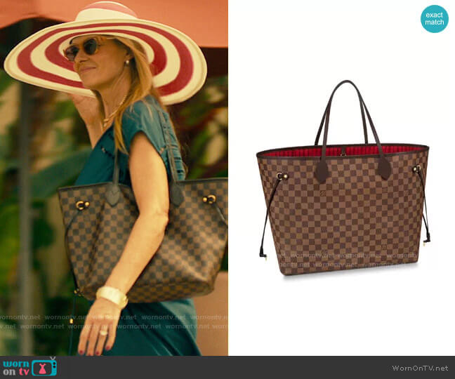 Louis Vuitton Neverfull Tote worn by Nicole Mossbacher (Connie Britton) on The White Lotus