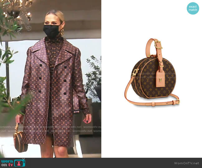 Petite Boite Chapeau Bonogram Handbag by Louis Vuitton worn by Dorit Kemsley  on The Real Housewives of Beverly Hills