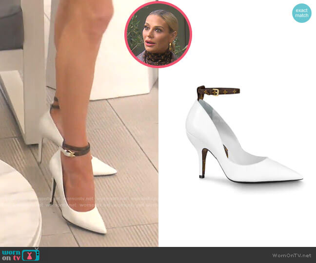 Attitude Pump in White by Louis Vuitton worn by Dorit Kemsley  on The Real Housewives of Beverly Hills