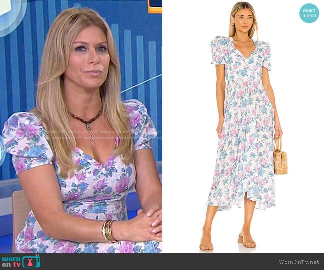 Hutchinson Dress by Love Shack Fancy worn by Jill Martin  on Today
