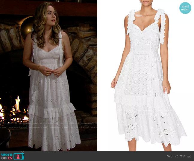 LoveShackFancy Antonella Dress worn by Hope Logan (Annika Noelle) on The Bold & the Beautiful