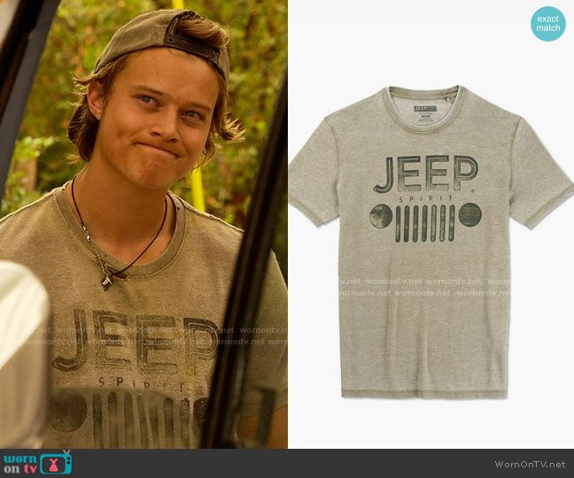 Lucky Brand Jeep Spirit Grill Tee worn by JJ (Rudy Pankow) on Outer Banks