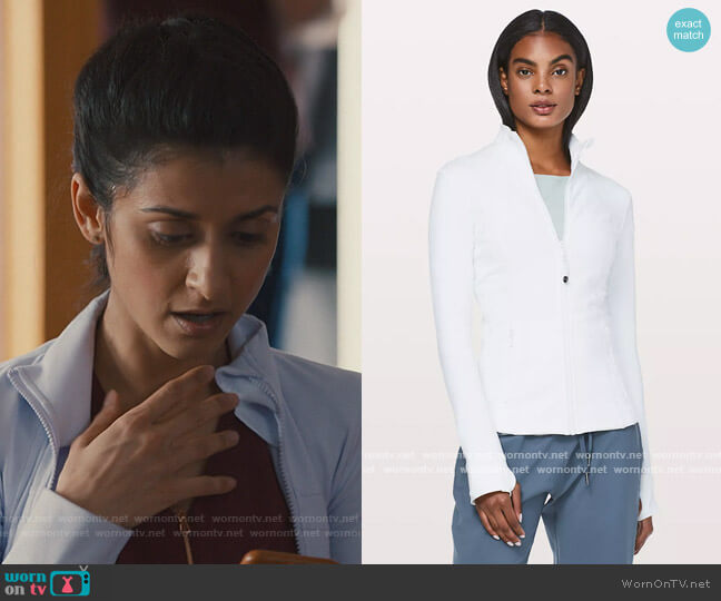 Define Jacket by Lululemon worn by Nazneen Khan (Sandy Sidhu) on Nurses