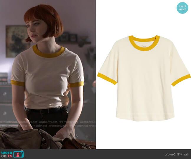 Madewell Ringer Everyday Crop T-Shirt worn by Scarlett (Sierra McCormick) on American Horror Stories