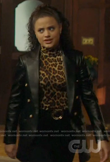 Abby's pink and red dip dye blazer on Charmed