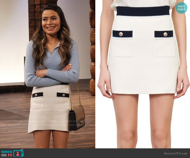 Maje Joliana Skirt worn by Carly Shay (Miranda Cosgrove) on iCarly