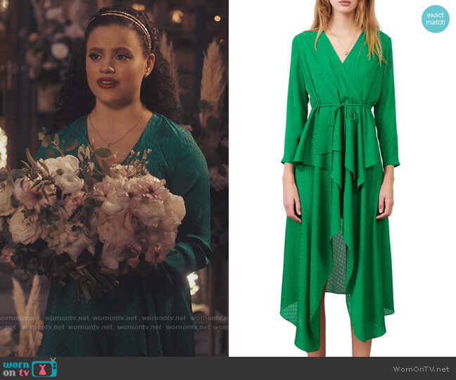 Maje Ramia Dress worn by Maggie Vera (Sarah Jeffery) on Charmed