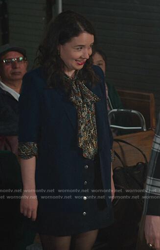 Marissa's paisley metallic blouse on The Good Fight