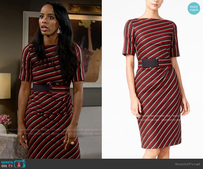 Weekend Max Mara Palato Dress worn by Imani Benedict (Leigh-Ann Rose) on The Young & the Restless