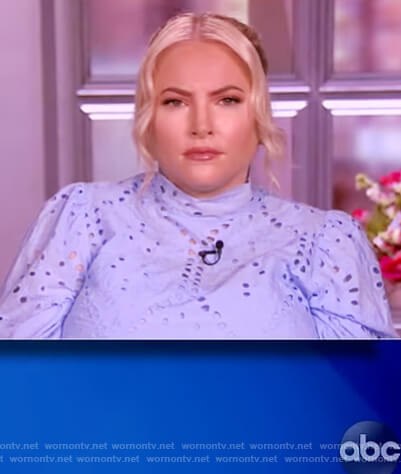 Meghan's blue eyelet dress on The View