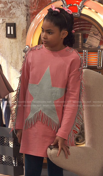 Millicent's pink fringed star dress on iCarly
