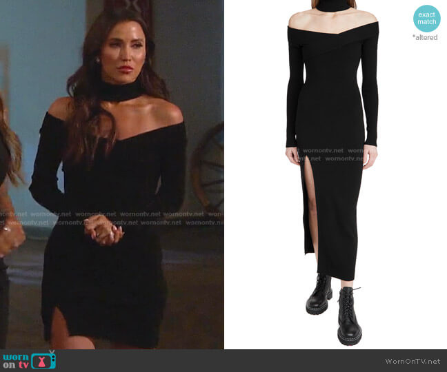 Off Shoulder Turtleneck Arch Dress by Monse worn by Kaitlyn Bristowe The Bachelorette worn by Kaitlyn Bristowe  on The Bachelorette