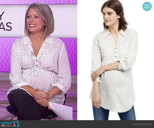 Polka-Dot Blouse by Motherhood Maternity worn by Dylan Dreyer  on Today