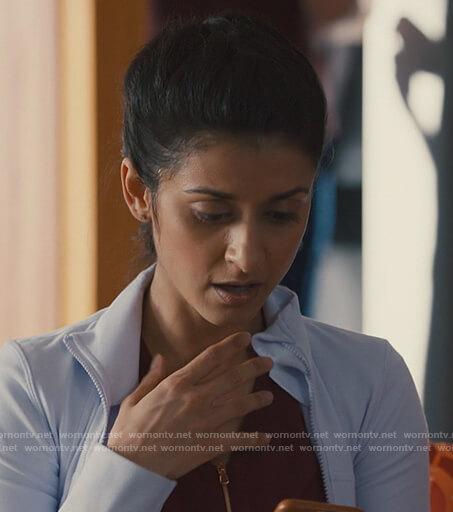 Naz's white track jacket on Nurses