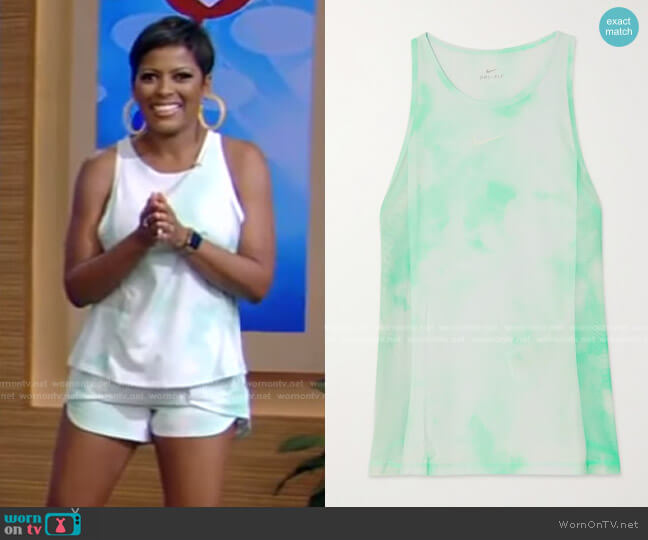 Icon Clash Tempo Luxe Tie-Dyed Dri-FIT Shorts by Nike worn by Tamron Hall on Live with Kelly and Ryan