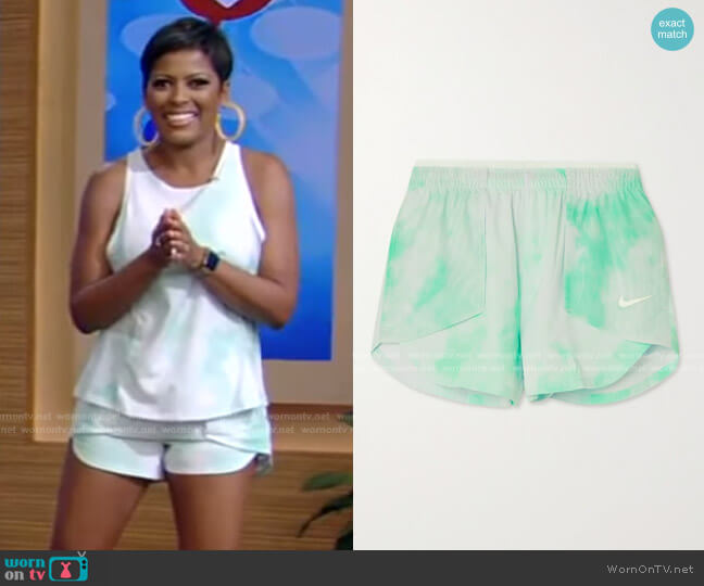 Icon Clash City Sleek Tie-Dyed Dri-FIT Tank by Nike worn by Tamron Hall on Live with Kelly and Ryan