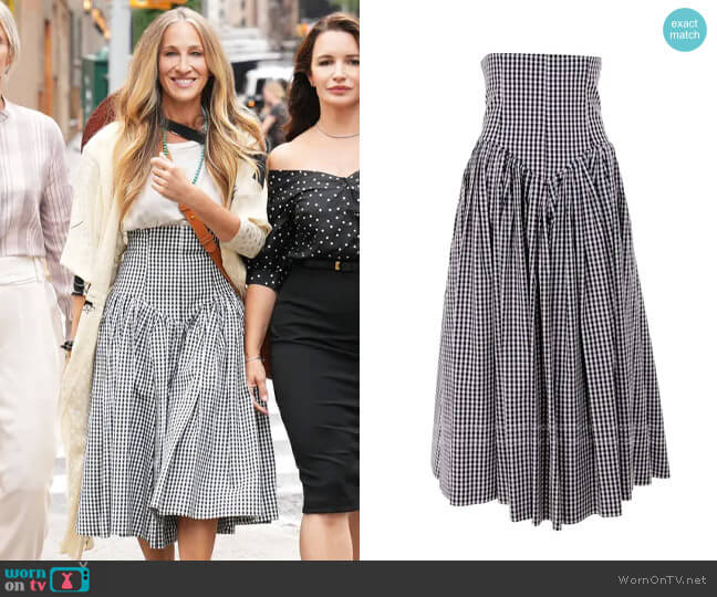 Norma Kamali Vintage Victoria Skirt worn by Carrie Bradshaw (Sarah Jessica Parker) on And Just Like That (Sex & the City reboot)