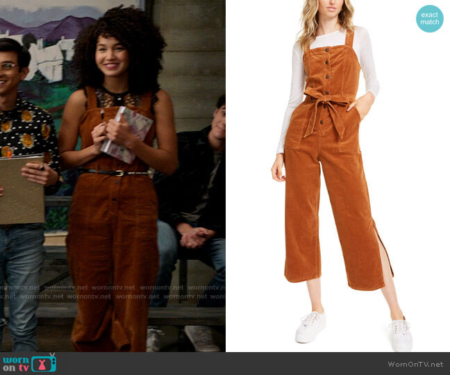 OAT Corduroy Side-Slit Jumpsuit worn by Gina (Sofia Wylie) on High School Musical The Musical The Series