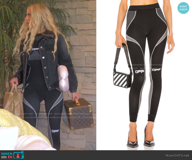 Active Arrow Leggings by Off-White worn by Dorit Kemsley  on The Real Housewives of Beverly Hills