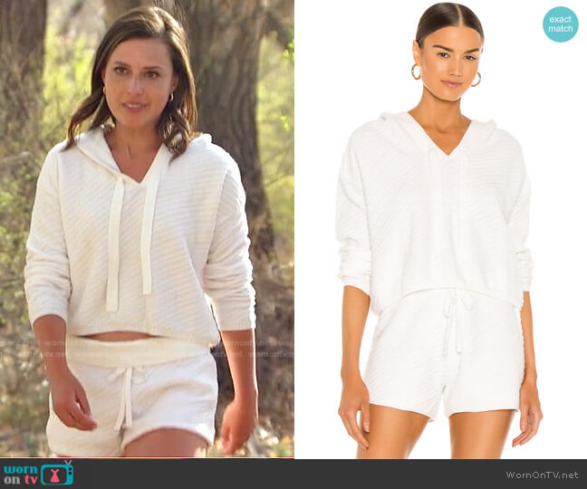 Chrissy Hoodie and Shorts by One Grey Day worn by Katie Thurston  on The Bachelorette