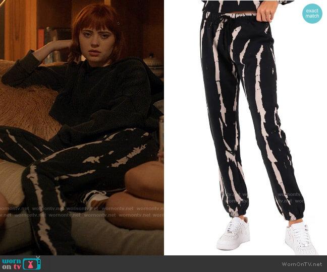 Pam & Gela Tie Dye Print Gym Sweatpants worn by Scarlett (Sierra McCormick) on American Horror Stories