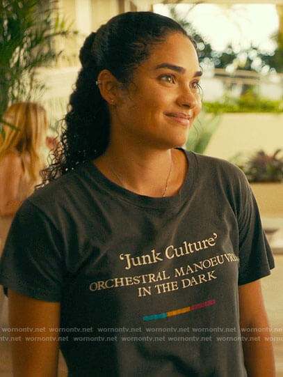 Paula's Junk Culture OMD tee on The White Lotus