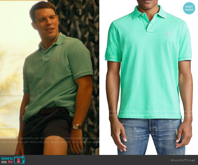 Polo Ralph Lauren Sunset Green Polo Shirt worn by Shane Patton (Jake Lacy) on The White Lotus