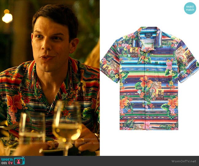Polo Ralph Lauren Tropical Print Linen-Blend Shirt worn by Shane Patton (Jake Lacy) on The White Lotus