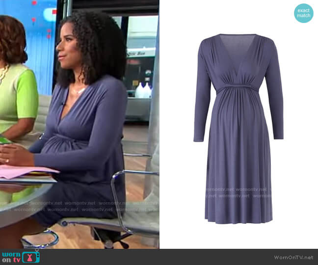 Rachel Pally Slate Maternity Dress worn by Adriana Diaz  on CBS Mornings