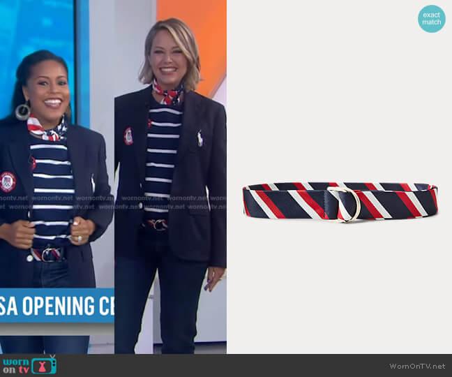 Team USA Closing Ceremony Belt by Ralph Lauren x Team USA worn by Dylan Dreyer  on Today