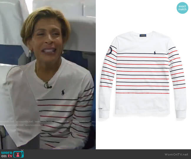 Team USA Jersey Long-Sleeve Tee by Polo Ralph Lauren worn by Hoda Kotb  on Today