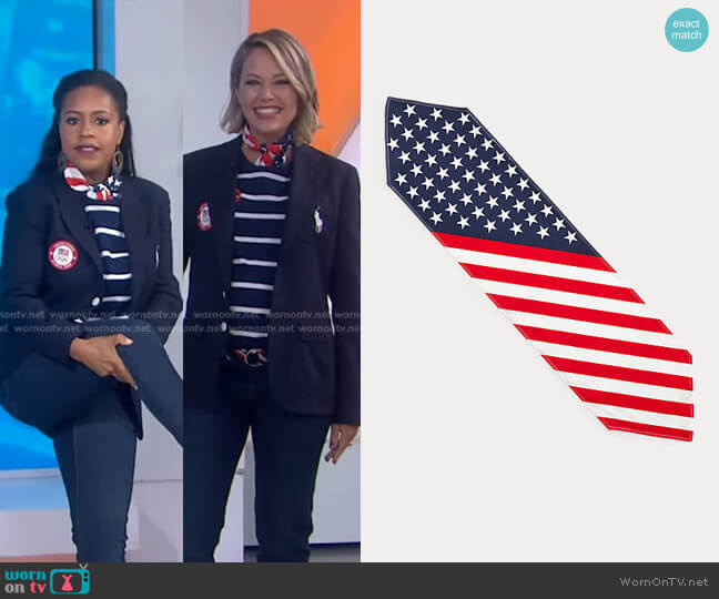 Team USA Opening Ceremony Scarf by Ralph Lauren x Team USA worn by Dylan Dreyer  on Today