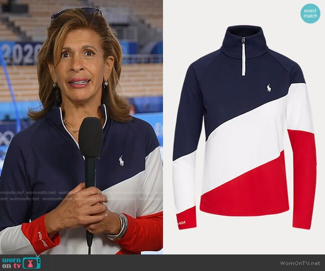 Team USA Quarter-Zip Pullover by Polo Ralph Lauren worn by Hoda Kotb  on Today